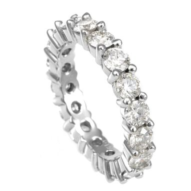 Custom Made Diamond Eternity Ring In 14k White Gold, Forever Ring, Eternity Band