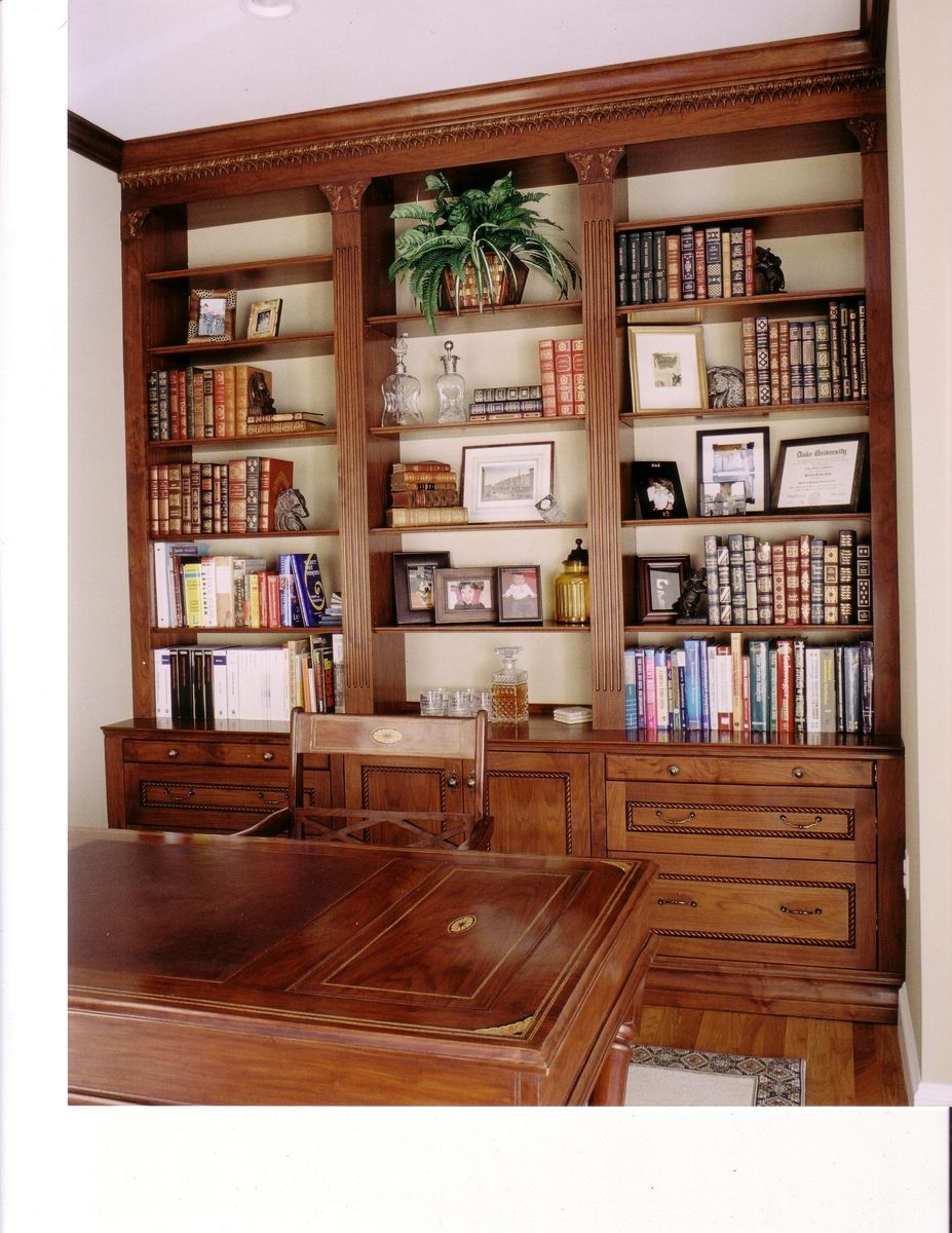Custom Walnut Home Office/Study by Case By Case Cabinets ...