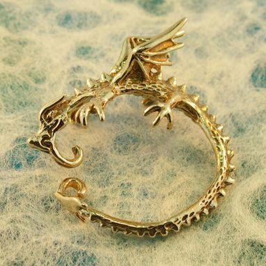 Custom Made Dragon Whisperer Hoop Bronze