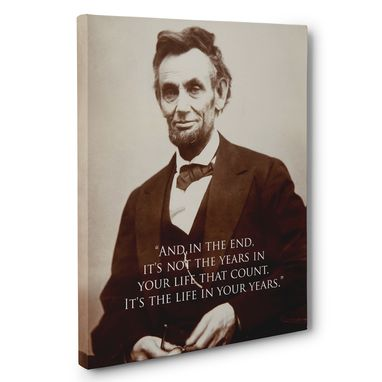Custom Made Abraham Lincoln Life Motivation Quote Canvas Wall Art