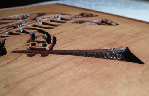 Custom Made Handmade Wood Deeply Carved The Flute Tootin' Turtle Wall Art / Hanging