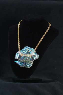 Custom Made Necklace  - Unique, One-Of-A-Kind Fused  Clear With Dichroic Glass