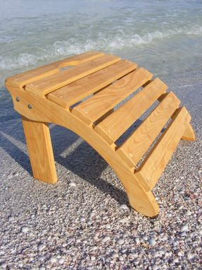 Custom Made Footstool - Curved - Adirondack Style