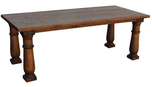 Custom Made Traditional Postobello Dining Table In Reclaimed Wood