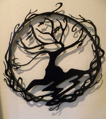 Custom Made Abstract Tree Of Life Metal Wall Art