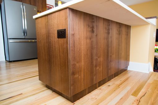 Custom Made Claro Walnut Kitchen Cabinets