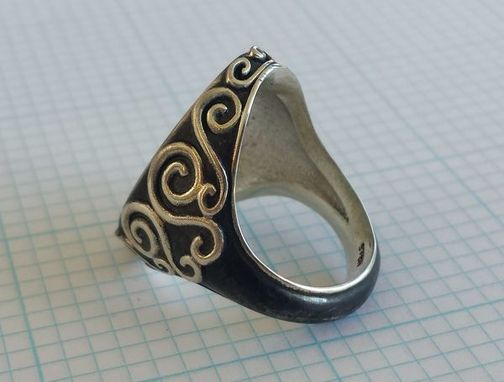 Custom Made Tree And Roots Signet Ring