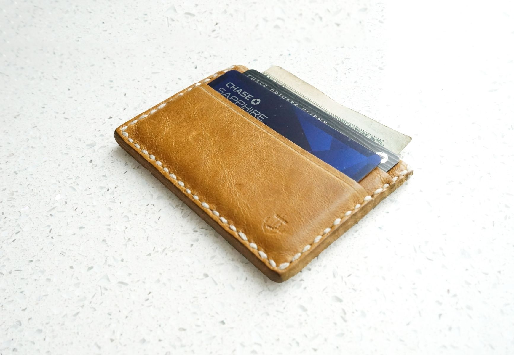 custom made mens leather wallet card holder - Phone Card Holder Custom