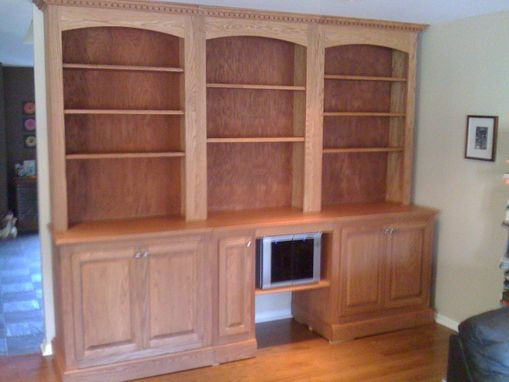 Custom Made Red Oak Wall Cabinet