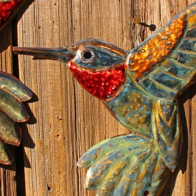 Custom Made Custom Copper Hummingbird Sculpture
