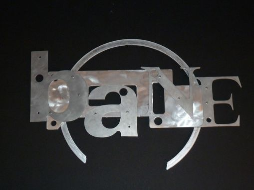 Custom Made Found/Recycled Metal Sculpture Aluminum Wall Hanging - Bane Of Your Existence
