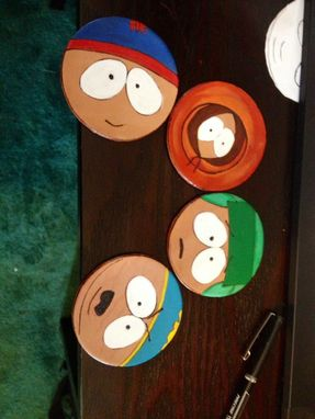 Custom Made Character Leather Coasters