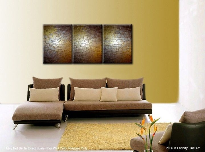 Buy a Hand Made Abstract Painting, Gold Silver Original Art ...