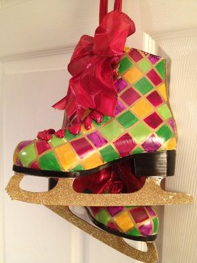 Custom Made Hand Painted Ice Skates