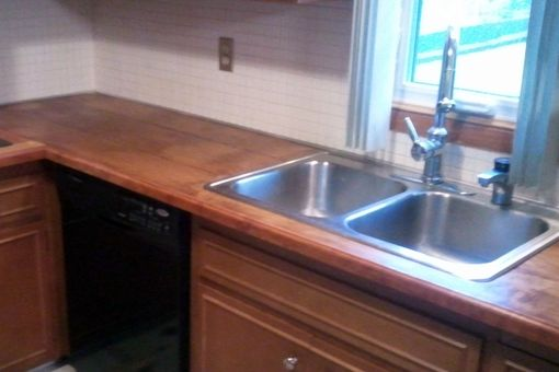 Custom Made Custom Maple And Cherry Counter Top