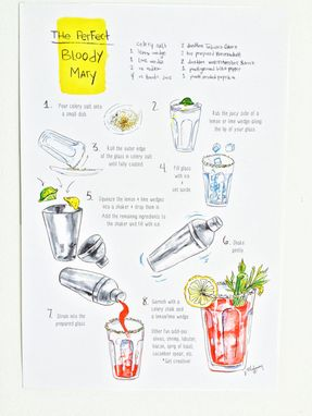 Custom Made Bloody Mary How To Instructions