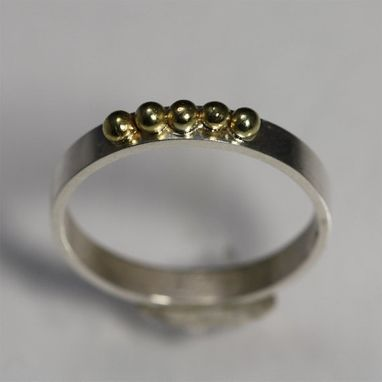 Custom Made 5 Gold Ball Ring Size 7