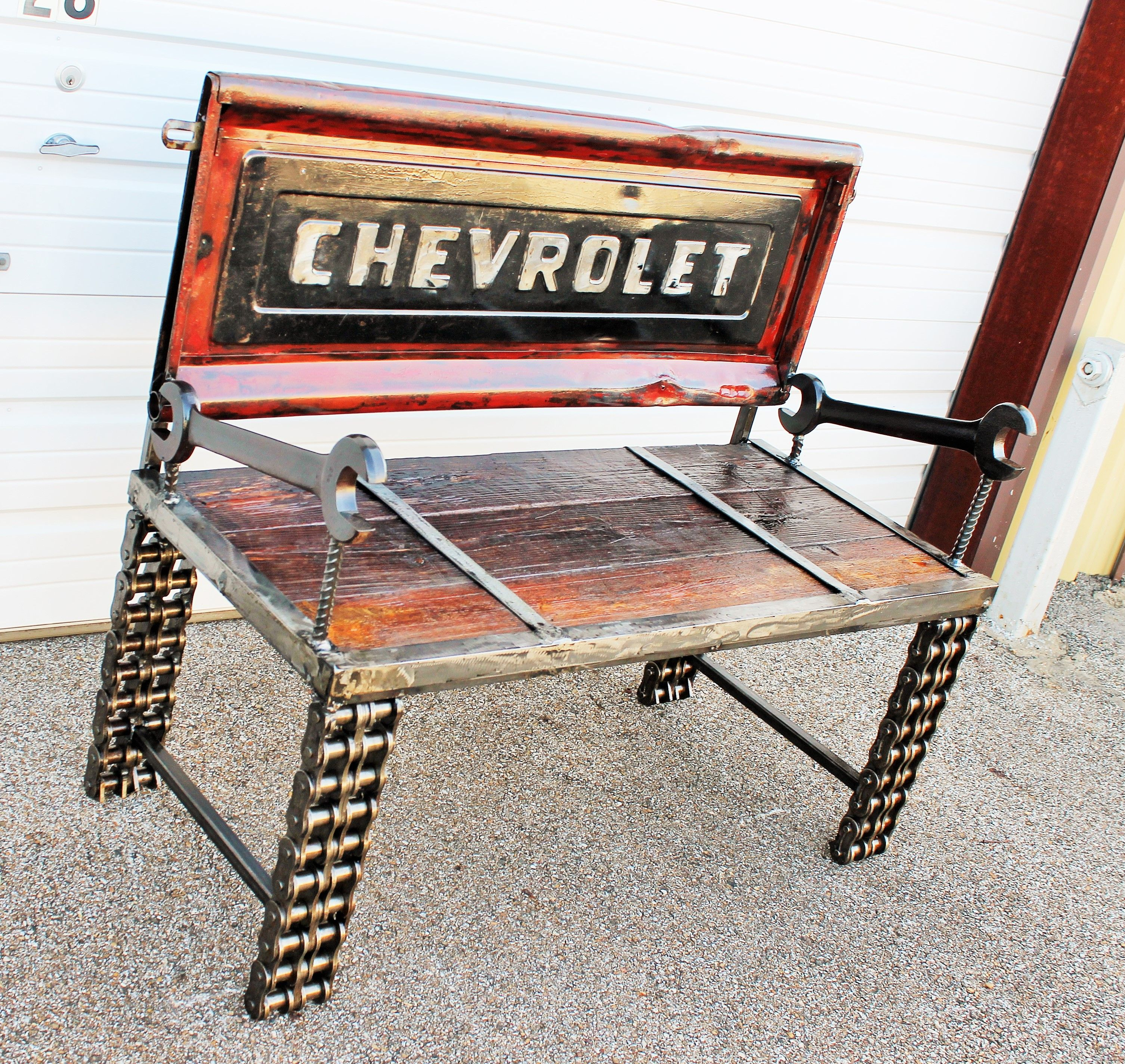 Custom Outdoor Furniture Garden Bench Chevrolet