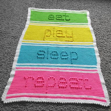 Custom Made Eat Play Sleep Repeat Baby Blanket