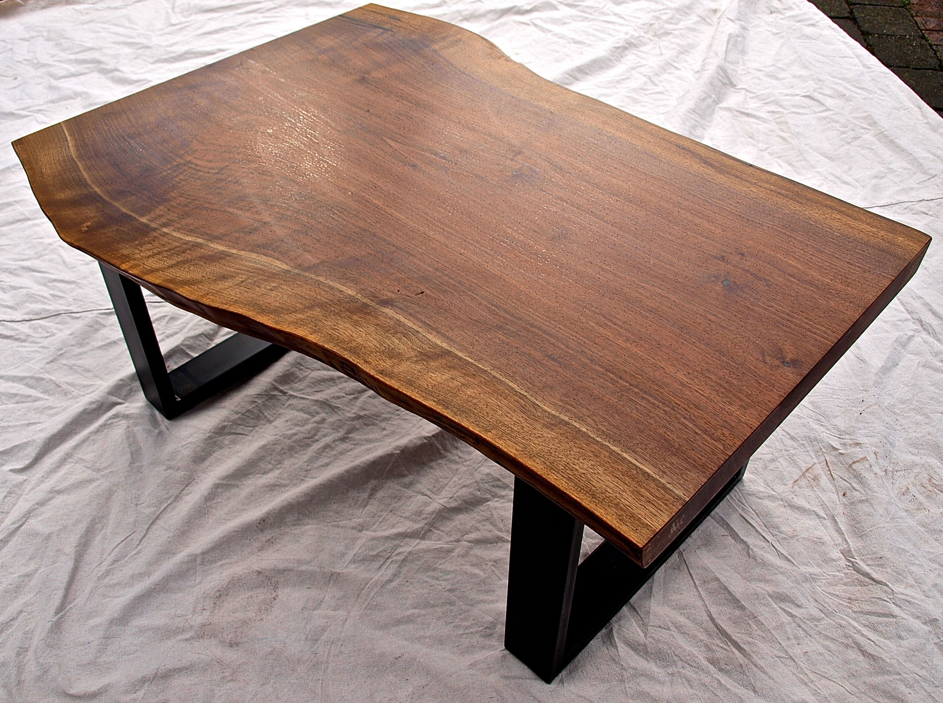 Hand Crafted Live Edge Walnut Coffee Table by WITNESS TREE STUDIOS
