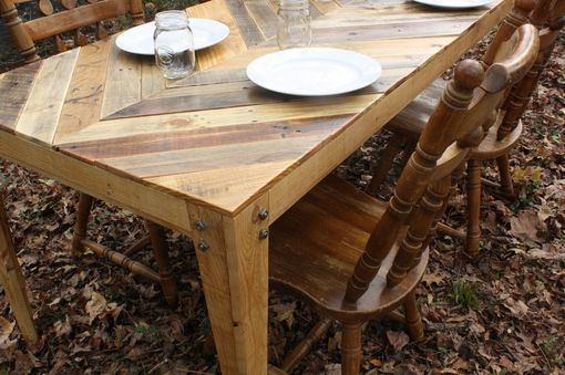 Custom Gathering Table Chevron Style Pallet Wood Table
