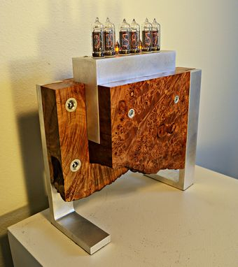 Custom Made Double Maple Burl Nixie Tube Clock