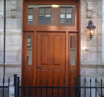 Custom Made Solid Wood Entry Door
