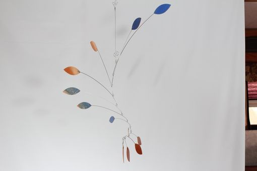 Custom Made Custom Ceiling Mobile Sculpture - For The Peaceful Color Wave Art Mobile