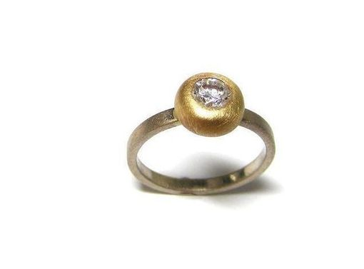 Custom Made Two Tone Diamond Ring