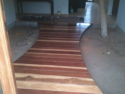 Custom Made Redwood Entry Walkway-Bridge