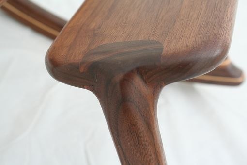 Custom Made Walnut Rocking Footstool - Shipping Included