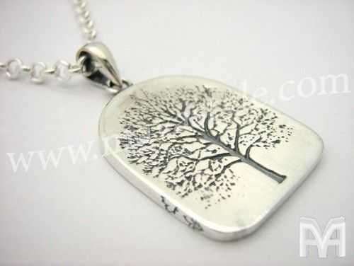 Custom Made Sterling Silver World Tree Of Life Amulet Pendant