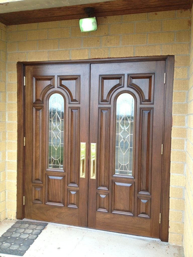 Hand Crafted Mahogany Church Doors By Albert Ironwood