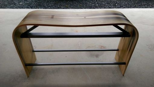 Custom Made The Bent Bench - Custom Molded, Handmade, Book-Matched Plywood