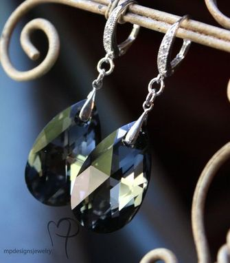 Custom Made Bridal Elegance Swarovski Crystal Teardrop Earrings