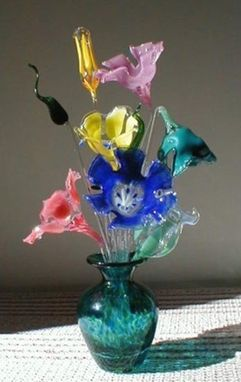 Custom Made Lampworked Bouquet