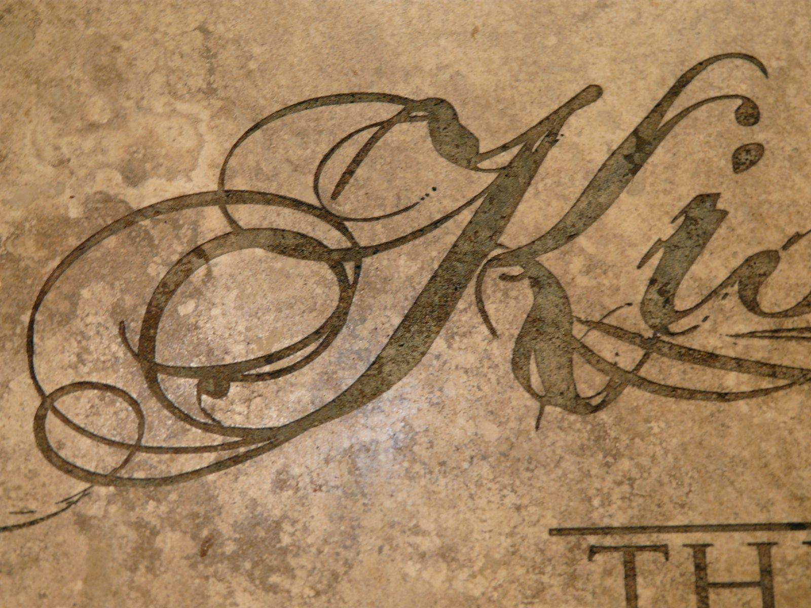 hand crafted laser engraved noce travertine tile kitchen