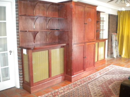 Custom Made Mahogany Built-In