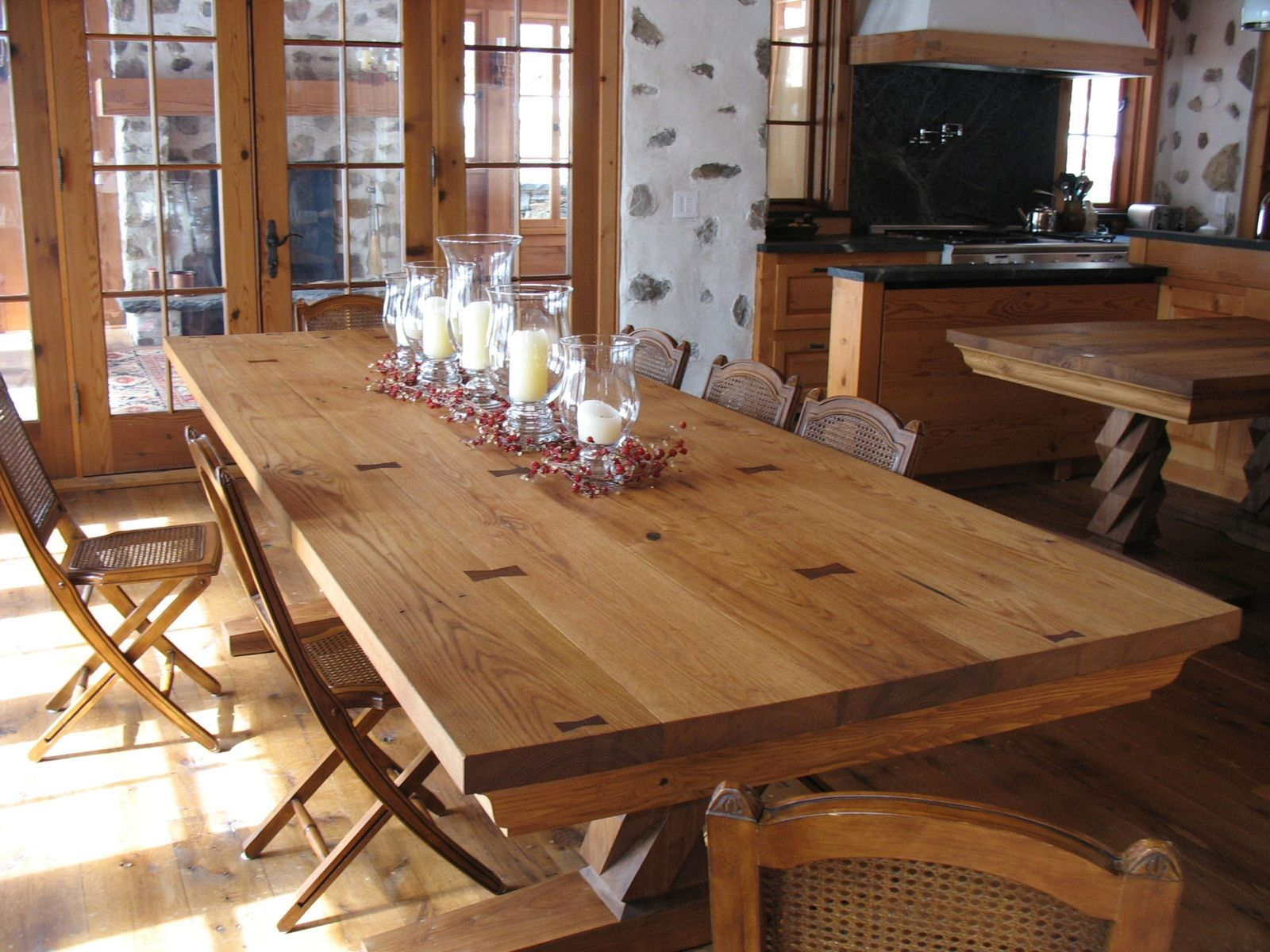 Hand Crafted Chestnut Dining Table By Michael Humphries