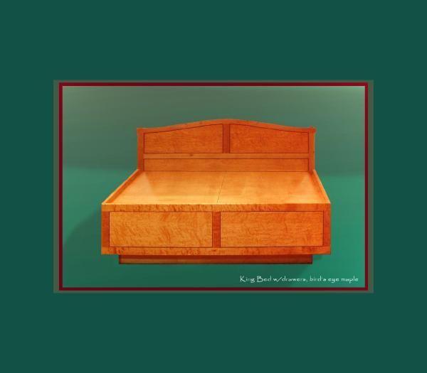 Hand Made Storage Bed By Randy Weersing Furniture Designs