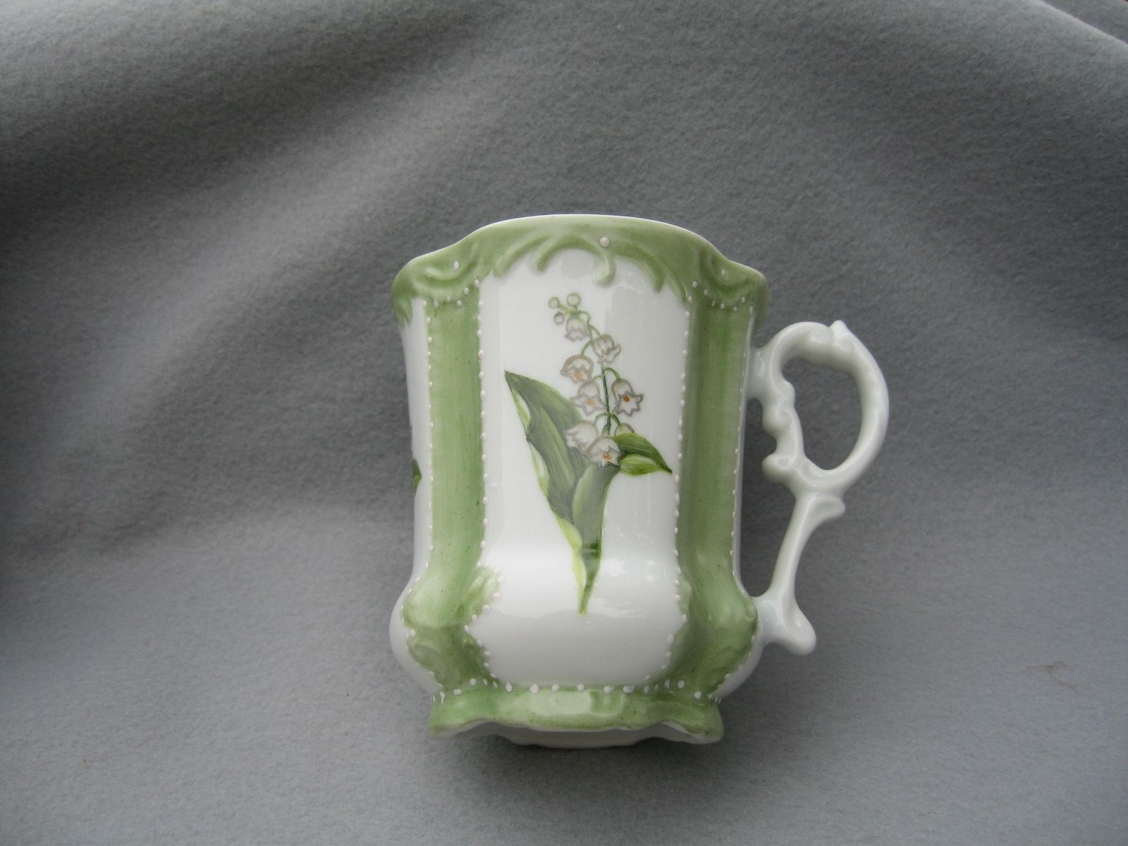 10a7a9e786a Hand Painted Lily Of The Valley Porcelain Mug. by Jane Kozlak