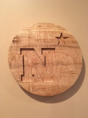 Custom Made N Star Wood Wall Art.