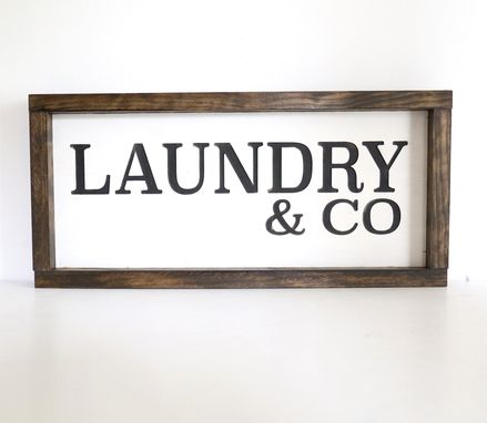 Custom Made Laundry Room Wood Sign