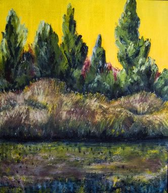 "Custom Made Original Oil Painting ""Poplar Creek"""
