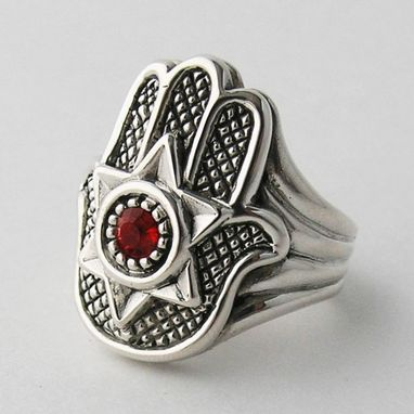 Custom Made Hamsa Hand Silver Rings