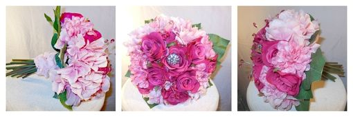 Custom Made Silk Bridal Flower Bouquet #8