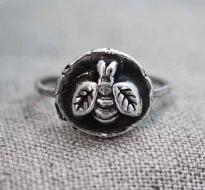 Custom Made Nestled Bumble Bee Ring - $55