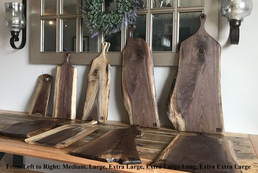 Custom Made Live Edge Walnut Cutting Board And Serving Boards. Limited Inventory! Please See Other Listings.