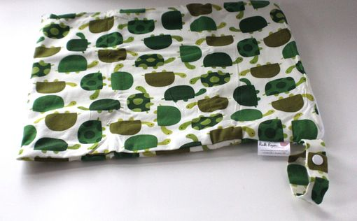 Custom Made Large Lay Flat Messy Bags (Wet Bags) - Turtles