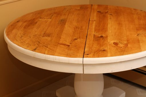 Custom Made Reclaimed Pine Circular Kitchen Table